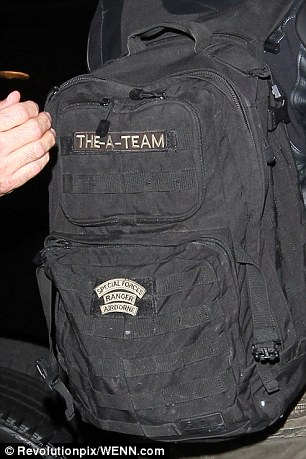 Freebie? The bag has been the luggage carrier of choice for Bradley over the years; he has been photographed wearing the backpack whilst driving home from the gym in Hollywood and on several trips to the airport