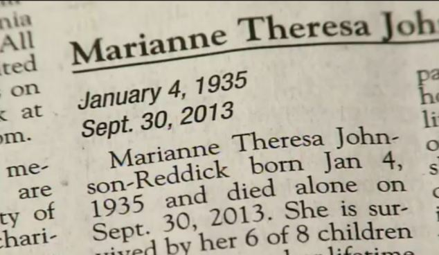 Life of torture: The children of Marianne Theresa-Johnson Reddick, said they were grateful she was dead in the obituary, which incorrectly printed her date of death as September 30, 2013 - rather than August 30, 2013