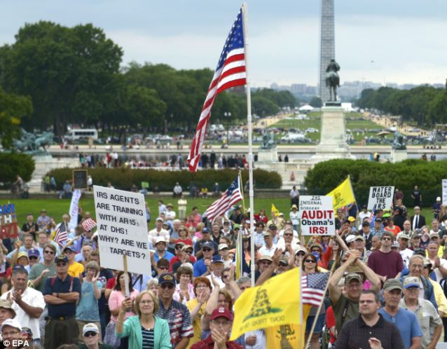 Serious messages: Tea party activists have leveled stern warnings to the IRS after the agency targeted their groups for special treatment based on their political philosophies