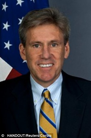 Tragedy: Christopher Stevens and three other embassy staff were killed in Libya on September 11th last year