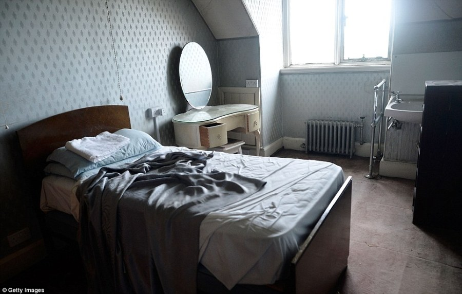 Sleeping quarters: A bedroom used by one of the servants who were contacted by the owners using an internal telephone system