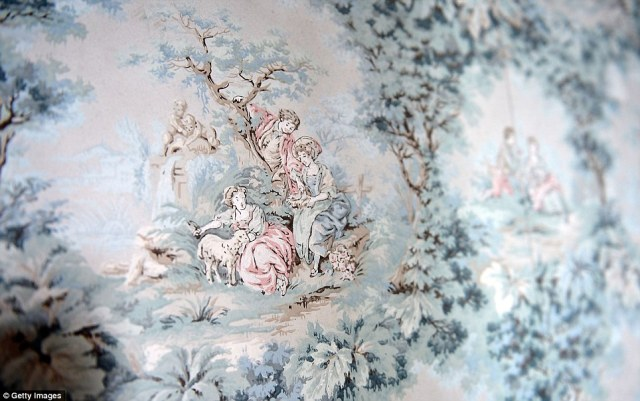Unique: Hand painted wallpaper dating from the 1920s was used by Sir Dhunjibhoy and Lady Bomanji to decorate the mansion