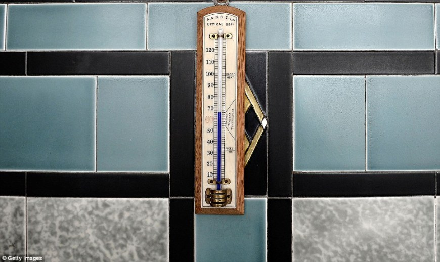 A bathroom thermometer used to test the bath water in Pineheath house