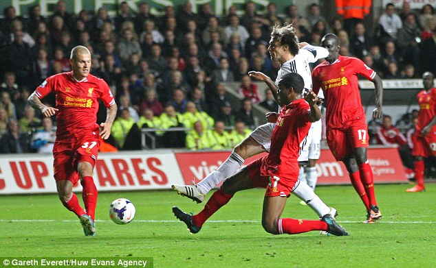 Lethal: Michu sniffed out the chance to level things up in the second half