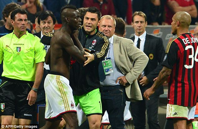 Image result for balotelli red card