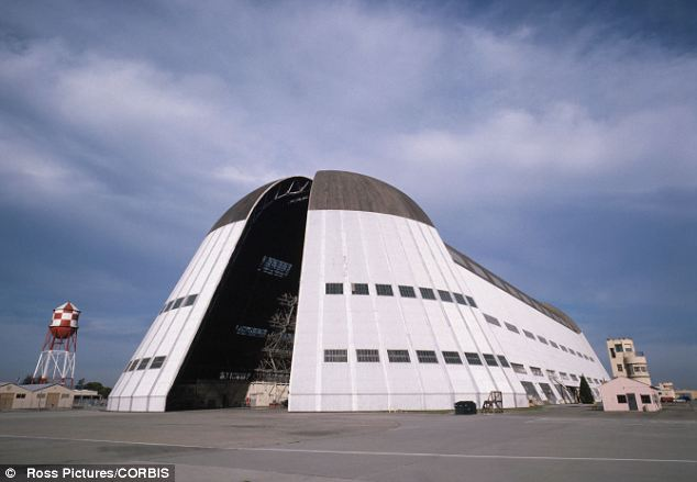Hangar One at Moffett Field: Keeping the planes at the federal site has enabled the owners to avoid hefty property taxes, potentially amounting to $500,000 per plane per year, the investigation has found
