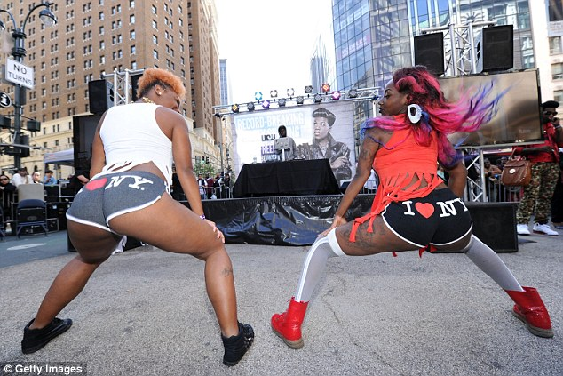 Cheerleaders: The Guinness World Record And Big Freedia Twerking Event at Herald Square on September 25, 2013 in New York City