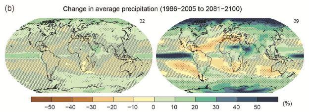 La precipitación media