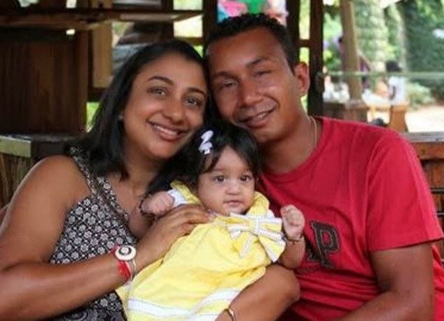 Mitul Shah, pictured with wife Rupal Shah and daughter Sarai, was unable to get through to the gunmen and was shot alongside several children in the Kenyan tragedy