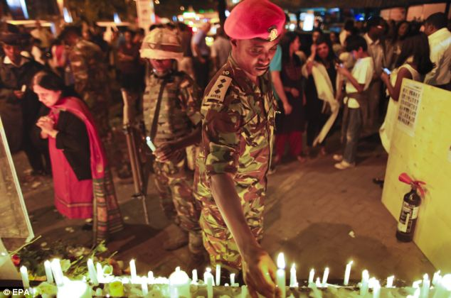 In memory: Kenya Defense Forces soldiers pay tribute to victims of the terrorist attack