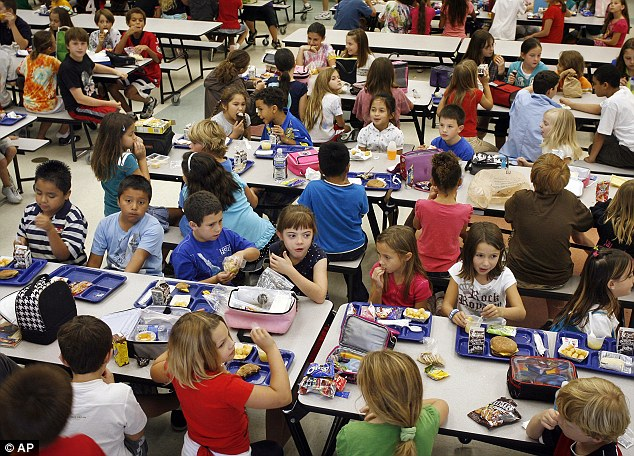 Lunch is served: School students who qualify for free school lunches and breakfast will not go hungry even if the shutdown goes ahead this week