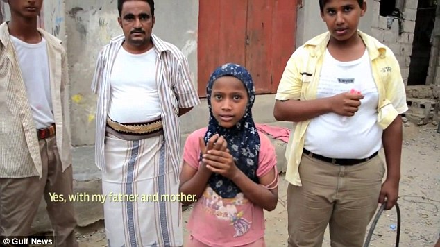 Call for change: Noora's story comes weeks after unconfirmed reports emerged that an eight-year-old Yemeni child bride called Rawan (claimed to be pictured above) died of internal injuries on her wedding night