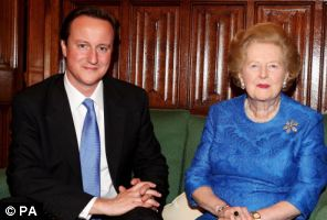 David Cameron and Baroness Thatcher pictured in 2007