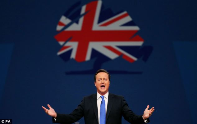 Passion: Mr Cameron said the Tories had to focus on not just fixing the mess they inherited but building something better