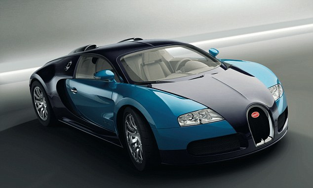 Pick of the bunch: Eto'o owns a Bugatti Veyron like the one pictured above