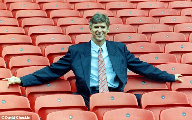 Arsene who? A relatively unknown Wenger took over at Arsenal in 1996