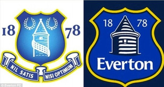Everton reveal new crest for 2014/15 season | Daily Mail ...