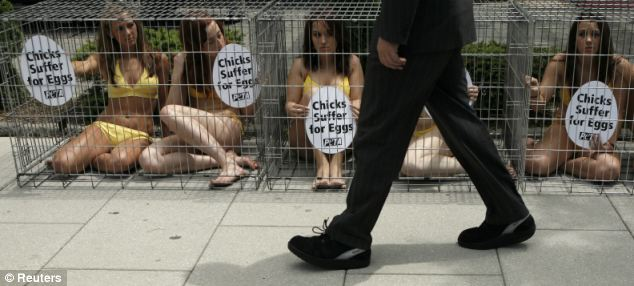 Stripping down is part of the toolbox at PETA, where grabbing attention is the #1 priority