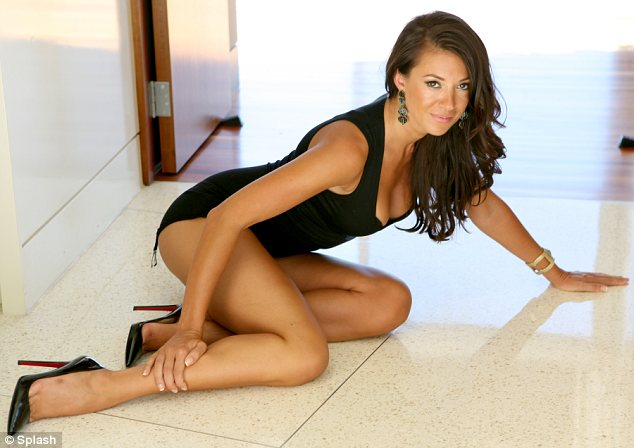 What's going on here?: For part of the shoot the 33-year-old rather bizarrely crawled around on the floor