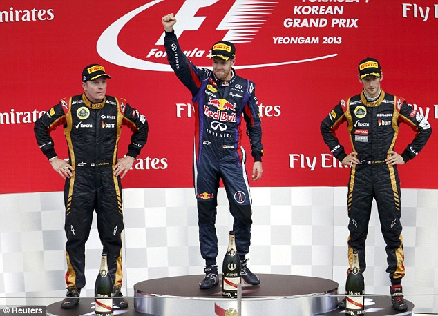 Podium: He finished ahead of Lotus' Kimi Raikkonen and Romain Grosjean