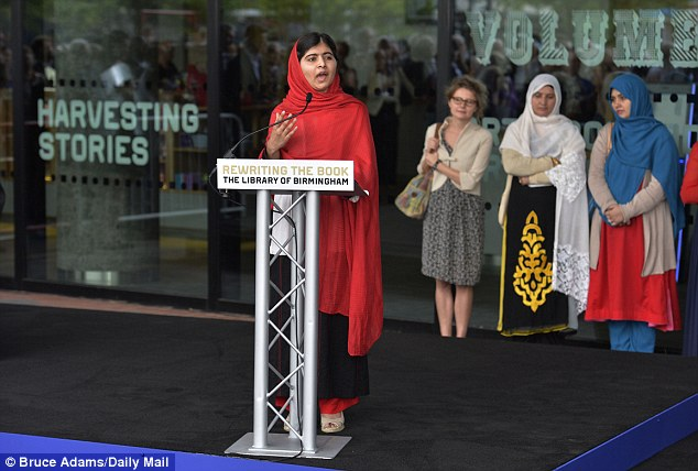 Opinions: Malala Yousafzi speaks last month at the official opening to the public of The Library of Birmingham