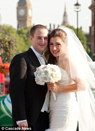 Grand: Jewish couple Stan and Claudia Gocman were married in the heart of of London but they day has been marred by a man who said he didn't blame Hitler for the Holocaust