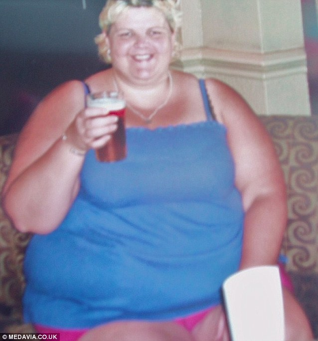 Natalie, pictured before her dramatic weight loss, was told she was dangerously over weight and her organs were at risk of failure