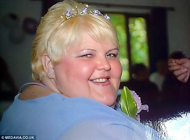 Natalie, pictured on her wedding day in 2007, weighing nearly 30 stone, is arguing that the huge amount of weight she has lost means she should be considered as a special case for the surgery