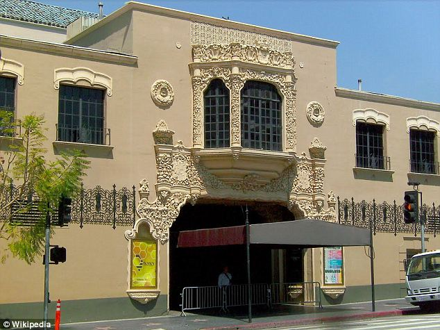 Full house: The study pointed out the historic Avalon Theater as in danger of falling down in the next quake thanks to outdated construction. It is now a popular nightclub with a capacity for 2,000 people