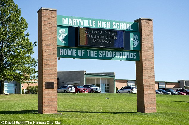 Class war: Daisy and her siblings were bullied and vilified at their school, Maryville High School, after she reported the rape only for charges to be dropped