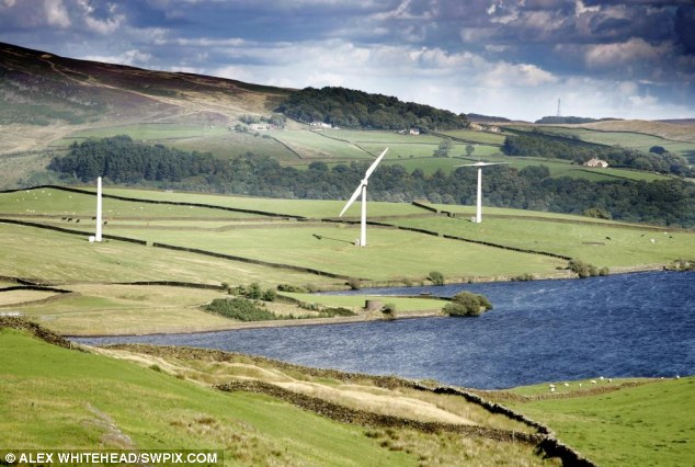 Wind turbines nr Addingham, Yorkshire