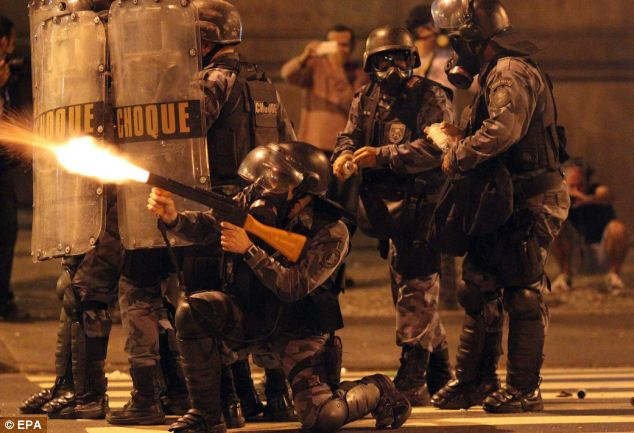 Police open fire as the demonstrations get more violent