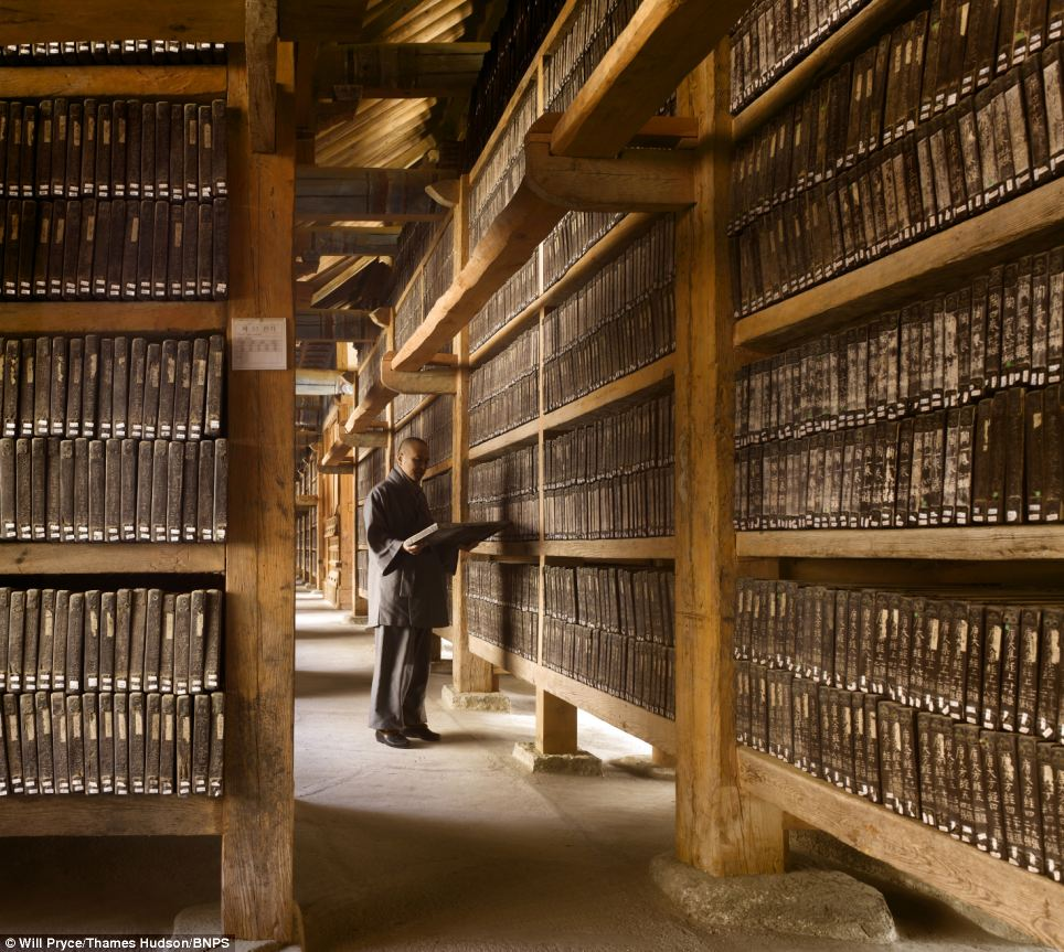 Epic tome: New book The Library features stunning pictures of libraries around the globe, including the The Tripitaka Koreana at the Haeinsa Temple in South Korea