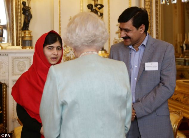 'Passionate': Malala told the Queen she was passionate about every child having a right to an education, everywhere around the world