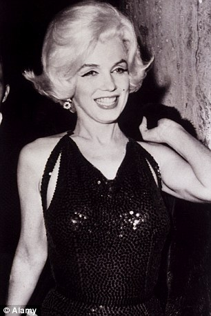 Marilyn Monroe at a party in 1962