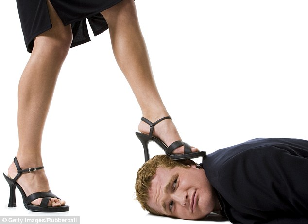 Image result for a man is beaten by high heels