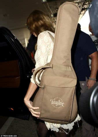 Image result for taylor swift with guitar bag