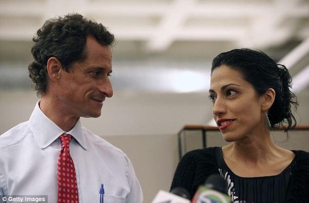 'Beer goggles': Joseph tweeted that Huma Abedin must have been wearing beer goggles when she married Anthony Wiener