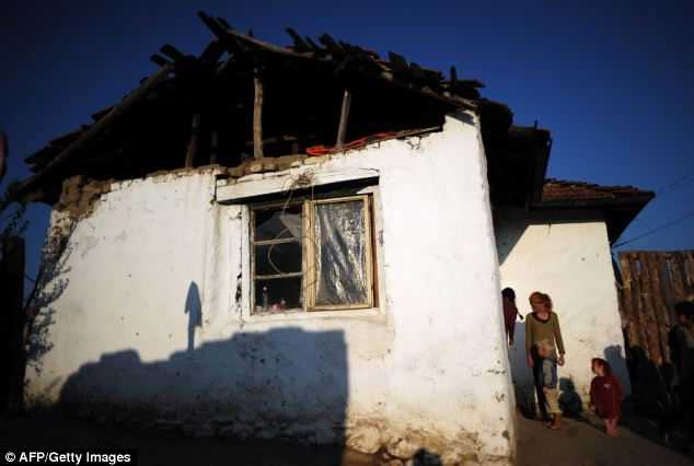 This is the family's one-bedroom home in the impoverished gypsy camp in Nikolaevo in rural Bulgaria