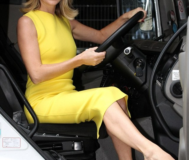 In Charge Amanda Holden Sat In The Drivers Seat As She Launched Her Autobiography By