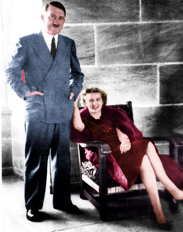According to Grey Wolf: The Escape Of Adolf Hitler, Eva Braun (right) accompanied the Adolf Hitler when he escaped through a secret tunnel from his bunker in Berlin