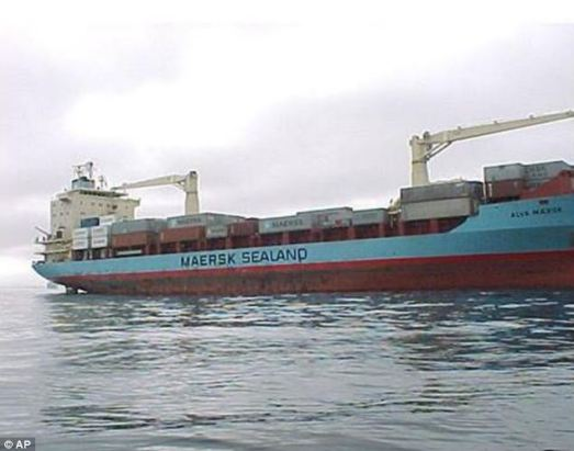 Hijacked: ne of the most high-profile cases was in 2009 when a 17,000 ton container ship, owned by Maersk Line, was hijacked by Somalia pirates with 20 crew members aboard