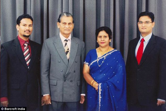 Thavisha Peiris, right, has been described as a 'kind and gentle' son and brother. His family, brother Pramod, father Sarath Mahinda Peiris and mother Sudarma Narangoda said they are 'devastated' at his loss