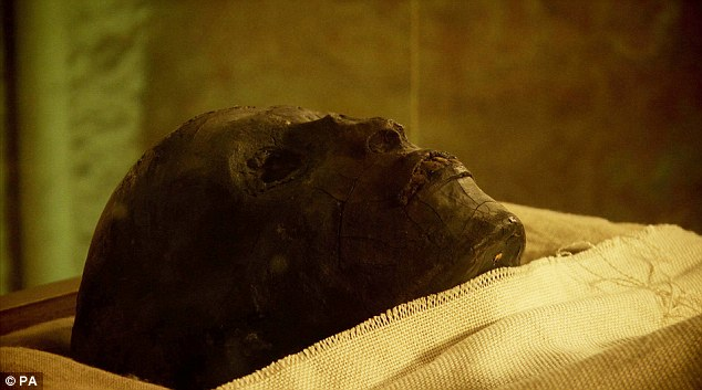 Researchers confirmed his body was burnt while sealed in his coffin after testing a fragment of his flesh