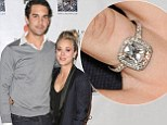 The very best accessory! Kaley Cuoco brightens up her casual outfit with her sparkling engagement ring as she hosts animal benefit with fiancé Ryan Sweeting