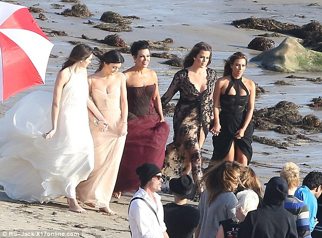 Family affair: The group matriarch Kris Jenner and youngest daughter Kylie were also there, while Kourtney was absent