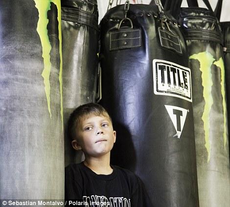 Chula Vista, California, United States: A participant in a Pankration tournament in Chula Vista (left)