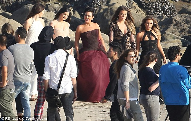 Much better: Once Kim's hair was perfected, the group continued with the stunning shoot