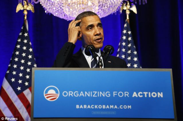 Obama abruptly changed his promise on Monday