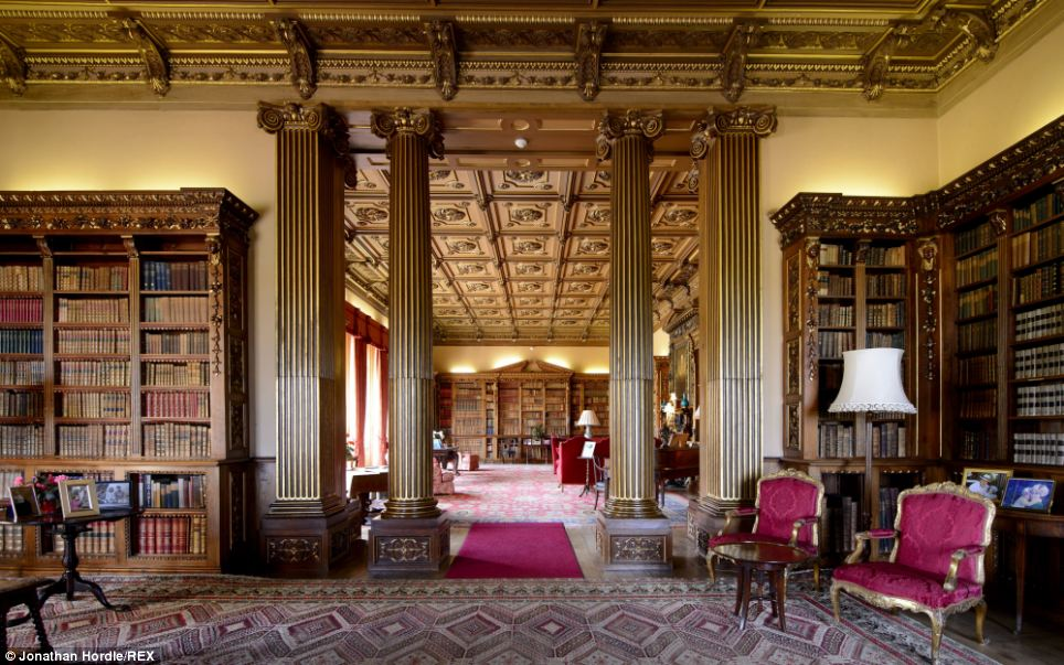 Image result for highclere castle library